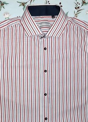 Фирменная итальянская рубашка в полоску, размер 48 - 50