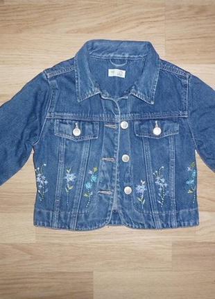 Куртка пиджак джинсовый для девочки лето, демисезонный adams