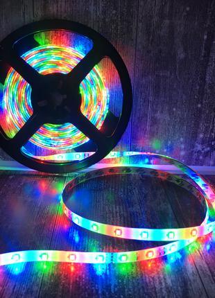 Лента светодиодная RGB 3528 5 метров с пультом Полный комплект