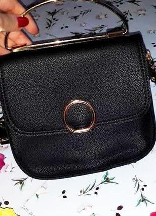 Бесплатная доставка! стильная маленькая кожаная черная сумка к...