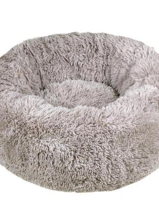 Лежак для кота или маленькой собаки мех серый 50 см red point ...
