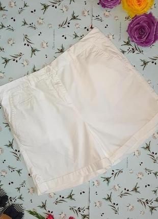 Акция 1+1=3 фирменные белые шорты из хлопка marks&spencer, раз...