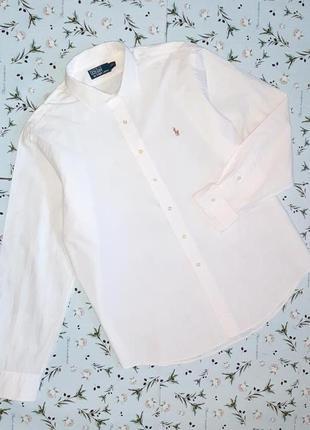 Фирменная белая рубашка ralph lauren оригинал, размер 54 - 56
