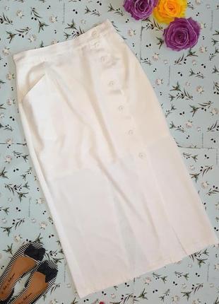 Акция 1+1=3 фирменная белая юбка миди с разрезами bellissima, ...