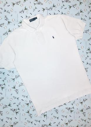 Базовая белая футболка поло ralph lauren, размер 52 - 54