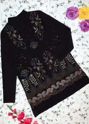 Фирменное черное короткое платье zara с вышивкой, размер 44 - 46
