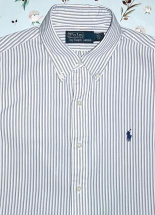 Белая рубашка в синюю полоску ralph lauren оригинал, размер 46...