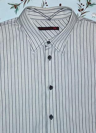 Фирменная белая рубашка в полоску levis оригинал, размер 48 - 50