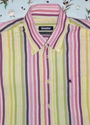Фирменная яркая рубашка в полоску gaastra из хлопка, размер 44...