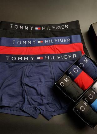 Подарочный набор мужских трусов tommy hilfiger. боксерки. 3 шт...