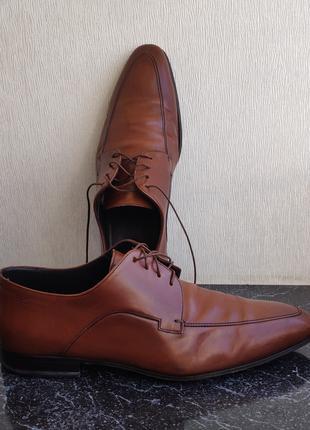 Мужские кожаные туфли Hugo Boss (Made in Italy)
