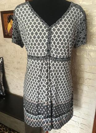 Натуральная блуза в ромбики