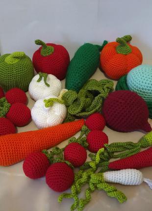 Вязание овощи и фрукты