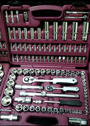 """Набор инструмента Thorvik UTS0108 1/4"""", 1/2""""DR, 108 предметов"""
