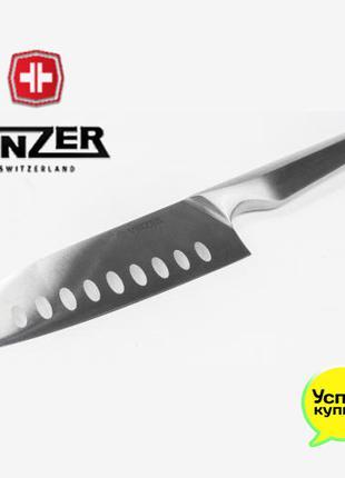 Нож сантоку 20 см Vinzer Швейцария Нержавеющая сталь
