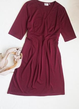 Красивое женское платье винного цвета, размер l
