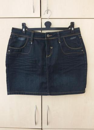 Юбка плотный джинс