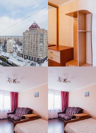 Посуточные квартира и почасово на Оболони с красивым видом из око