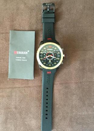 Мужские наручные спортивные кварцевые часы curren m8166 (черные)