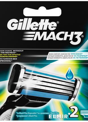 Сменные кассеты (лезвия) для бритья Gillette Mach3 Turbo (4ШТ)