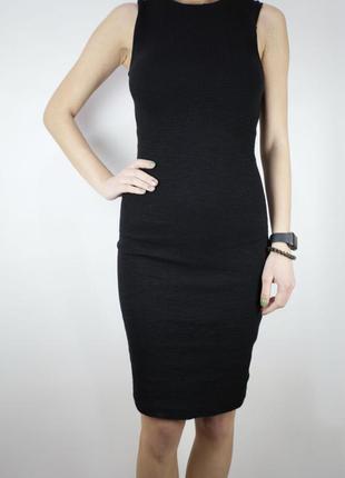 Платье футляр zara чёрное классическое платье миди размер s