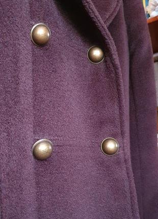 Пальто винтажное бархатное коричневое силует трапеция