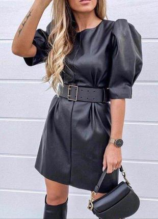 Платье качество эко-кожа на подкладке замш