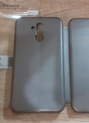 Чехол книжка на телефон - Huawei Mate 20 Lite (Серый цвет)