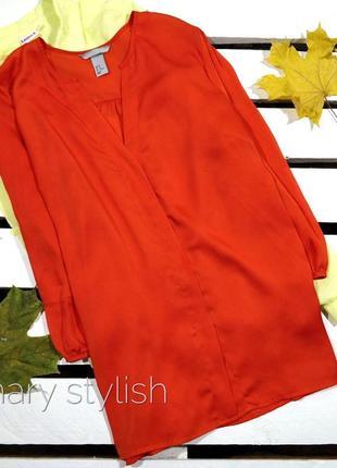 Блузка морковного цвета
