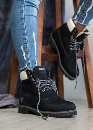 Женские💎зимние💎timberland dark blue ботинки тимберленд темно с...