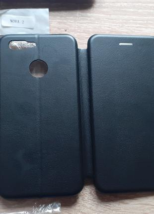 Чехол книжка Huawei Nova 2 (Черный цвет)