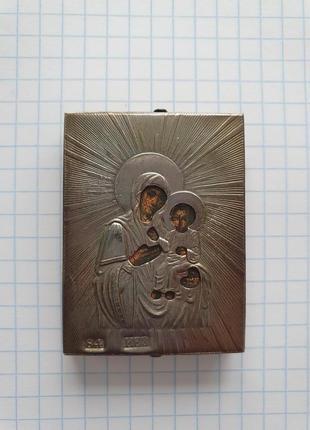 """Иконка """"Божья Мать"""", серебро 84"""