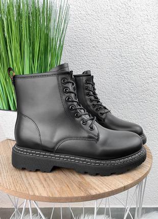 Жіночі шкіряні ботинки martenes