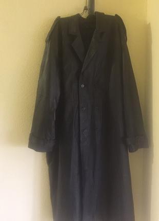 БОЛЬШОЙ размер Плащ пальто мужское натуральная кожа