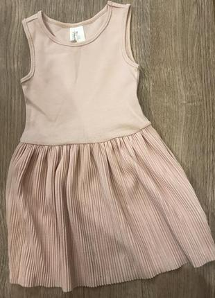 Детское пудровое платье h&m 505664