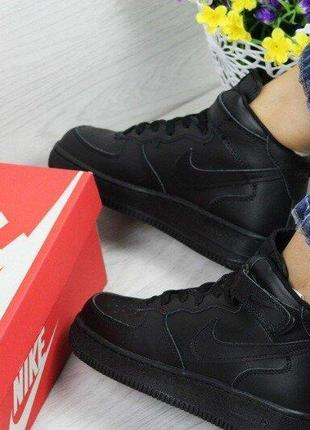 Теплые кроссовки женские nike air force зимние зима кросівки з...