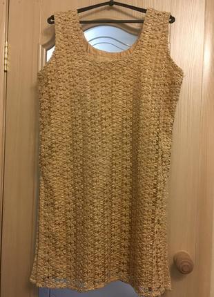 Платье туника золото
