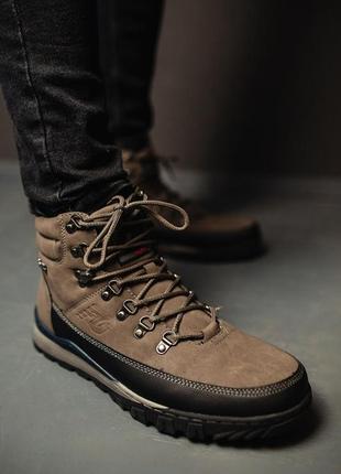 Мужские зимние коричневые кроссовки