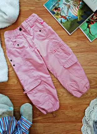 Детские спортивные штаны - брюки на подкладке для девочки - во...