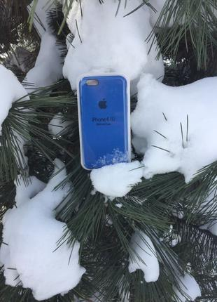 Синий чехол silicone case для iPhone 6/6s