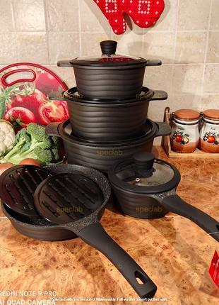 Набор посуды ZILNER ZL-8513. Газ, индукция, керамика