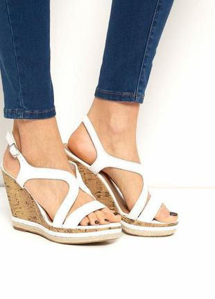 New look сандали босоножки на танкетке платформе 26 см
