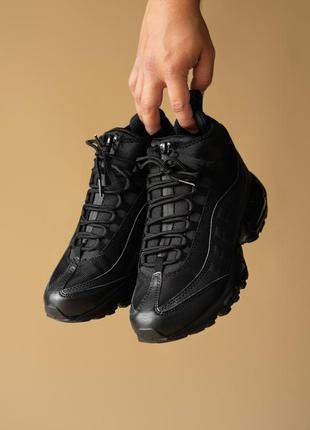 Кроссовки мужские nike sneakerboot,  black (осень/весна)
