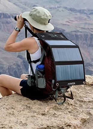 ПОРТАТИВНАЯ солнечная панель Anker 21W для выживальщ. и туристов