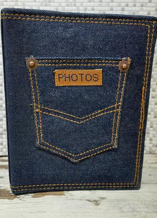 Фотоальбом джинсовый