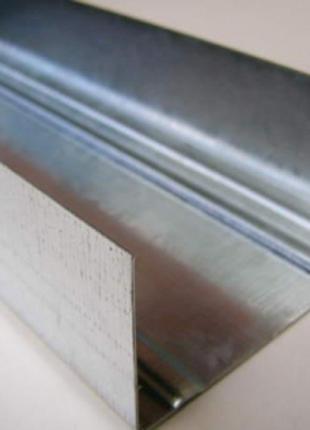 Гипсокартонный профиль для перегородок UW 75 4м 0,45мм