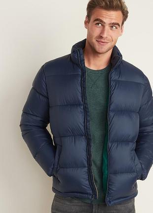 Мужская синяя теплая куртка l old navy оригинал
