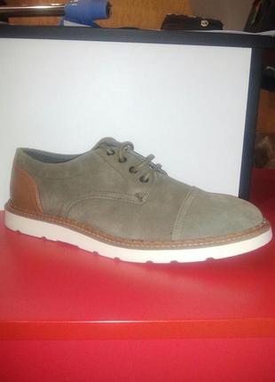 100% замшевые мужские туфли, оксфорды 44 pull&bear оригинал