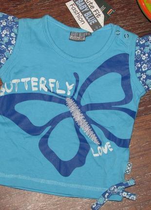 Брендовая футболка 74 р. baby blue оригинал!