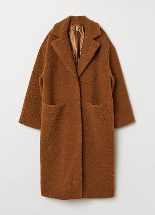 Пальто букле h&m р-р xs/s